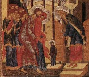 intrarea biserica