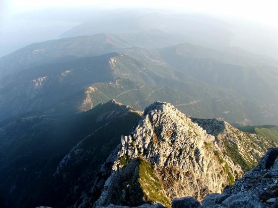 peninsula athos vazuta de pe vf athon