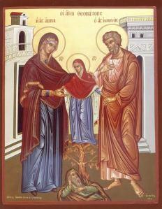 Sfinţii şi Drepţii Ioachim şi Ana, părinţii Fecioarei Maria.